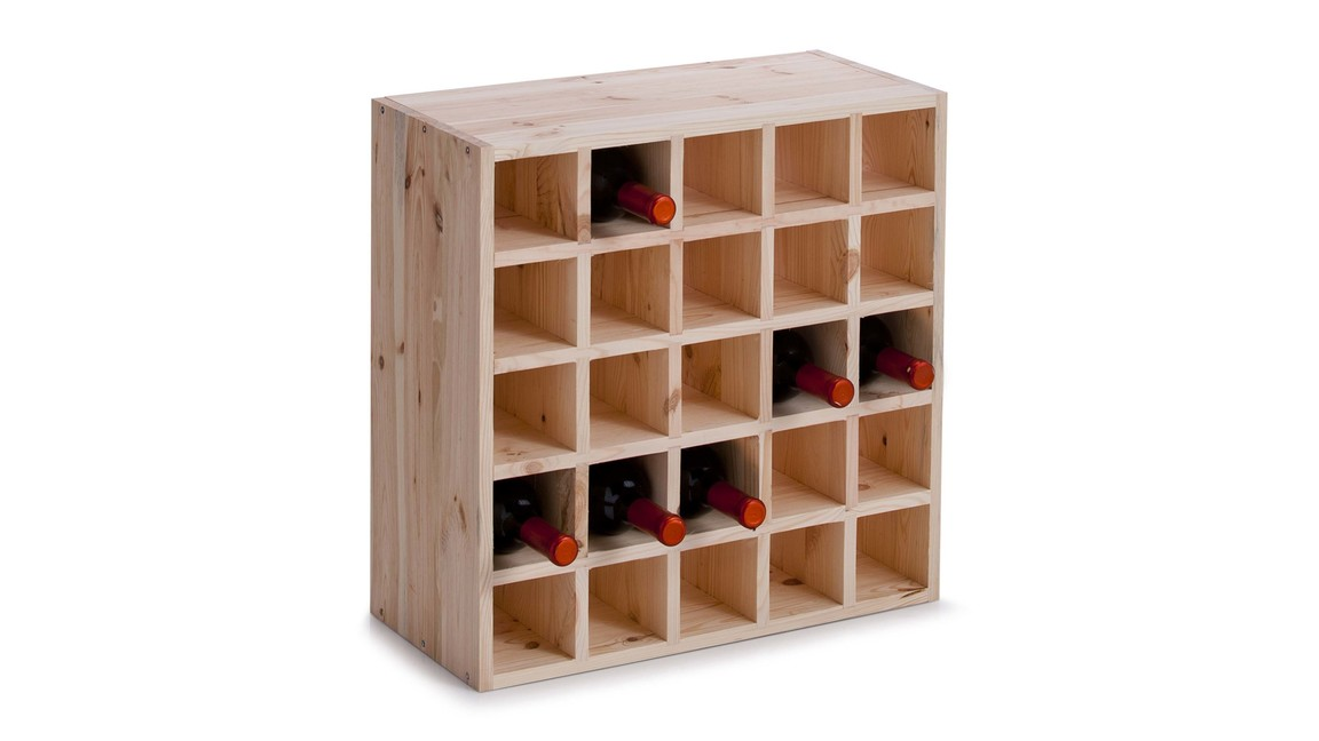 Weinregal, ein Holzregal im Bordeaux-Stil