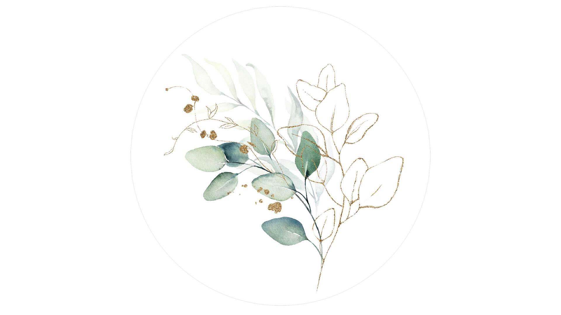 Interliving BEST BUDDYS! Kunstdruck Watercoloured Leaves II