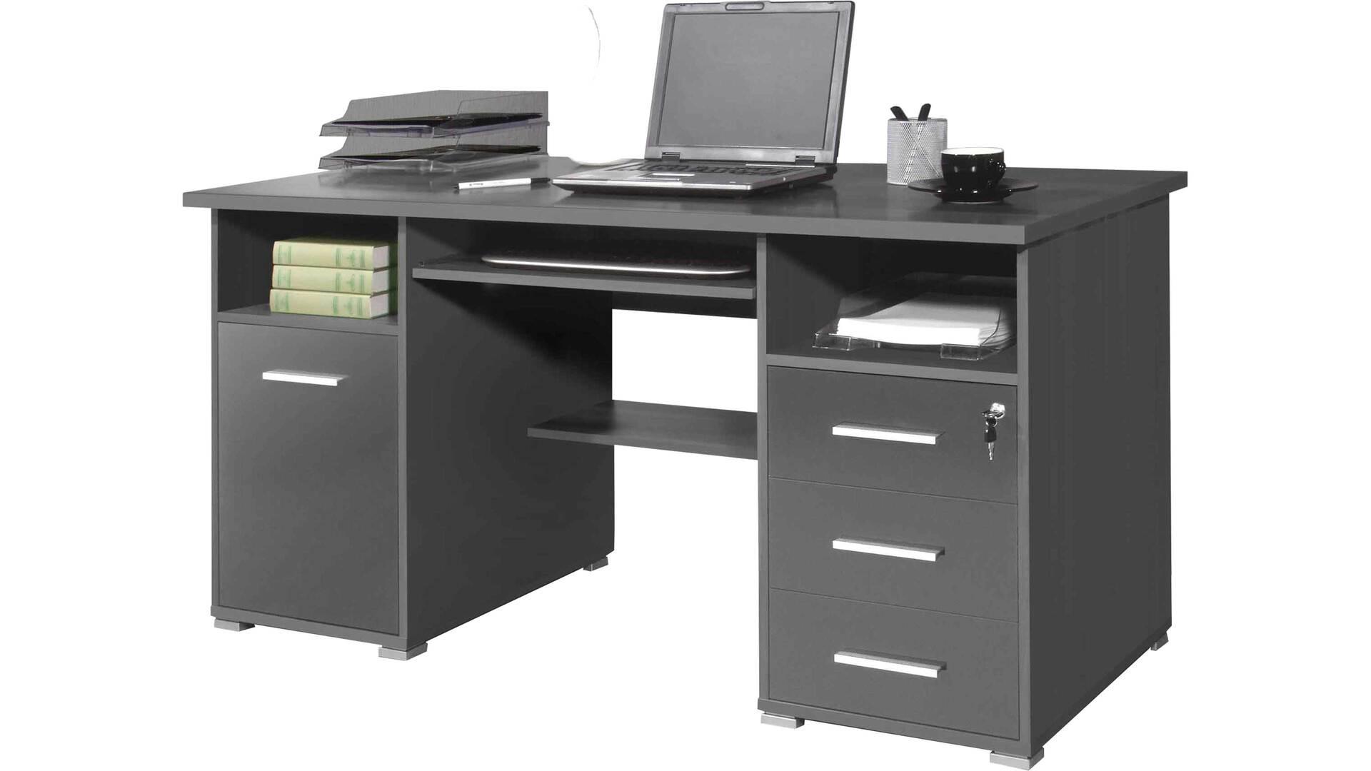 Schreibtisch, der die Büro Einrichtung perfekt ergänzt