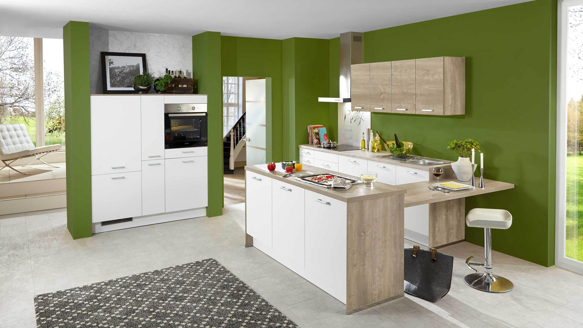 Culineo Küche mit gorenje Einbaugeräten und privileg Haube