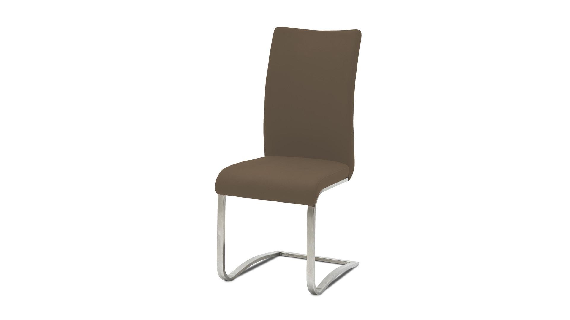 Leder-Schwingstuhl, einzeln oder mit mehreren Lederstühlen