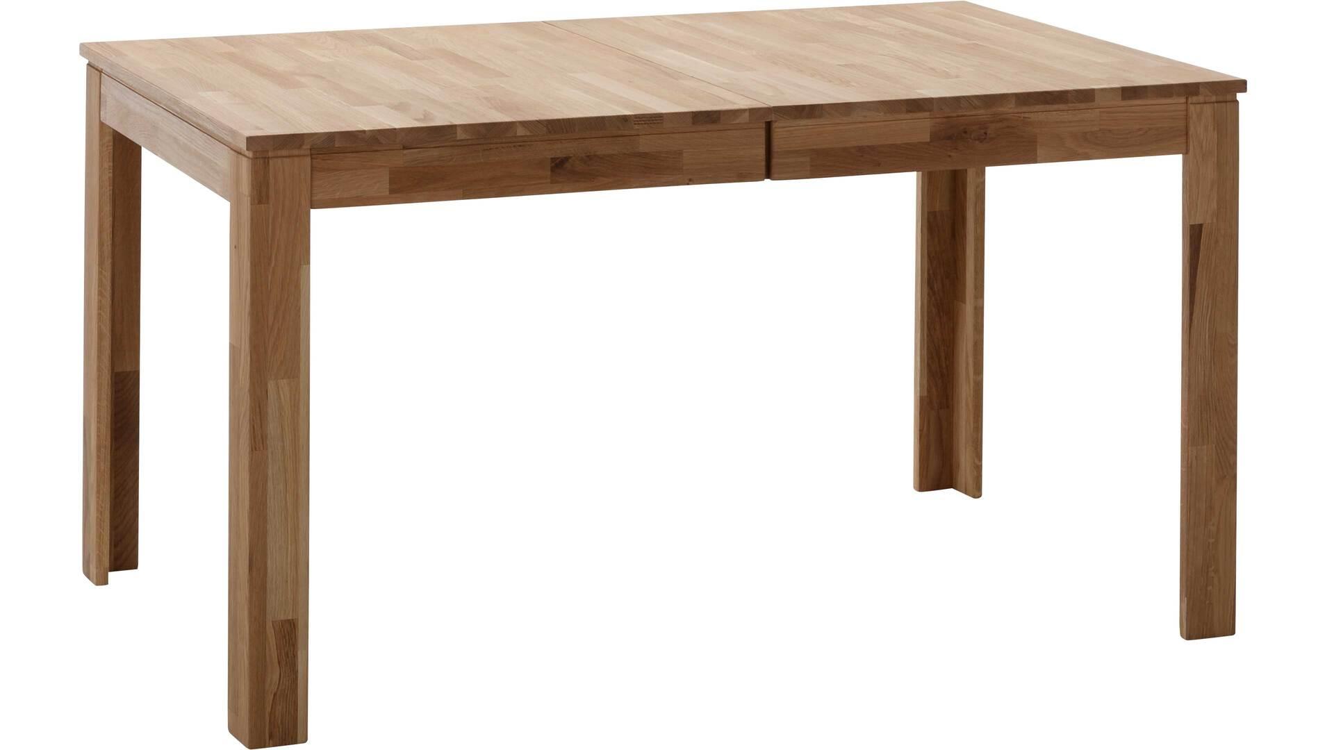 Esszimmertisch mit Ausziehfunktion als Massivholzmöbel