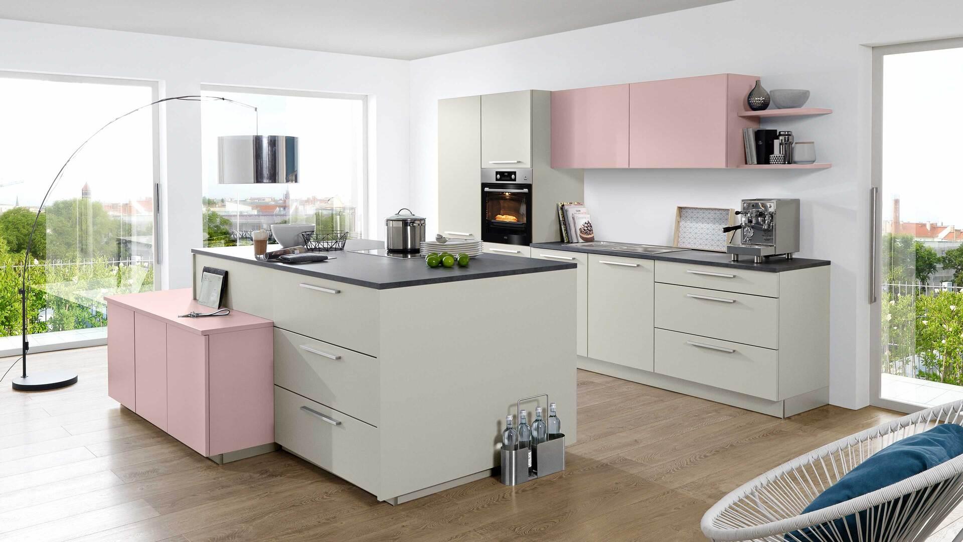 nolte Einbauküche Soft Lack mit AEG-Einbaugeräten
